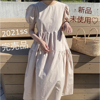 snidel - 【新品未使用・完売品】パフスリーブ♡ティアードフレアワンピース