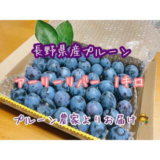 1 長野県産プルーン アーリーリバー1キロ プルーン農家よりお届け(フルーツ)