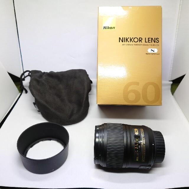 Nikon(ニコン)の美品 AF-S Micro NIKKOR 60mm f/2.8G ED スマホ/家電/カメラのカメラ(レンズ(単焦点))の商品写真