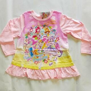 バンダイ(BANDAI)のトロピカルルージュプリキュア長袖Tシャツ(フリルピンク)(Tシャツ/カットソー)