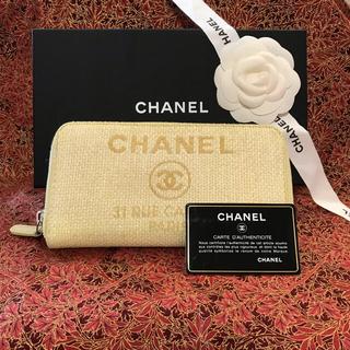 シャネル(CHANEL)の正規美品 CHANELドゥーヴィルラウンドジップ長財布(長財布)