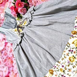 Amavel - Amavel❤リズリサ❤夢展望❤RF❤❤花柄❤裾フリフリ&レース激❤カワ❤ワンピ