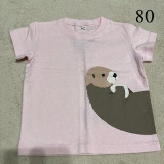 ムジルシリョウヒン(MUJI (無印良品))の新品未使用 無印良品 プリントTシャツ サイズ80(Tシャツ)