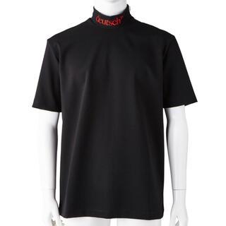 ジョンローレンスサリバン(JOHN LAWRENCE SULLIVAN)のJOHN LAWRENCE SULLIVAN ハイネックTシャツ 黒 S(Tシャツ/カットソー(半袖/袖なし))