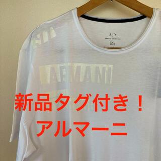 アルマーニエクスチェンジ(ARMANI EXCHANGE)の新品タグ付き!アルマーニ シャドウプリント ビッグロゴ コットンTシャツ(Tシャツ/カットソー(半袖/袖なし))
