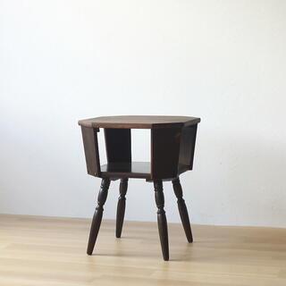 アンティーク 八角形テーブル カフェ レトロ ヴィンテージ 古家具 古道具 喫茶(その他)