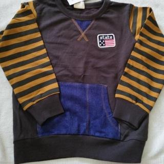 新品 夏場限定価格!デニムポケット ボーダー長袖110cm(Tシャツ/カットソー)