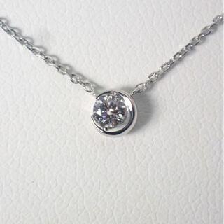 スタージュエリー(STAR JEWELRY)のスタージュエリー Pt950 ダイヤモンド ムーン ネックレス[g505-9](ネックレス)