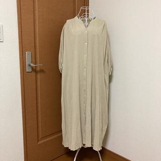 レプシィム(LEPSIM)のシャツワンピース ロングスカート(ロングワンピース/マキシワンピース)