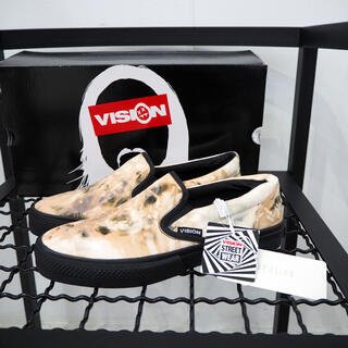 ヴィジョン ストリート ウェア(VISION STREET WEAR)の新品 定価16500円 ヴィジョン スティーブアオキ タイダイ スリッポン(スニーカー)