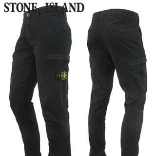 STONE ISLAND - ストーンアイランド/STONE ISLANDカーゴパンツ ウォッシュブラック/黒