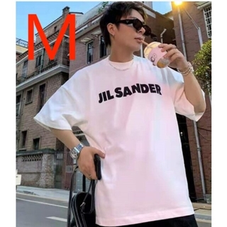 Jil Sander - JIL SANDER ジルサンダーオーバーサイズ ロゴ Tシャツ#M