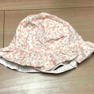 ベビーギャップ(babyGAP)のベビーギャップ 女の子 夏用帽子 花柄 ピンク 44センチ(帽子)