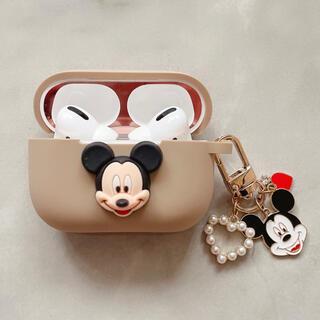 Disney - 新商品☆ミッキーAirpodsproケース♡パールハートキーホルダー