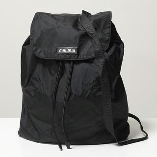miumiu - ミュウミュウ ナイロン リュック/バックパック バッグ ブラック miumiu