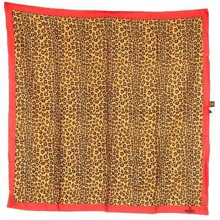 フェンディ(FENDI)のFENDI フェンディ レオパード柄  スカーフ シルク100% 15-406(バンダナ/スカーフ)