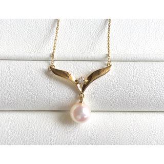 ミキモト(MIKIMOTO)のMIKIMOTO  アコヤ真珠ダイヤモンドネックレス K18(ネックレス)