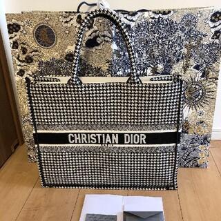 Christian Dior - Dior ディオール book tote ブックトート 千鳥格子 ラージ