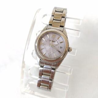 セイコー(SEIKO)のセイコーSEIKOレディース電波ソーラーステンレス腕時計カレンダー(腕時計)