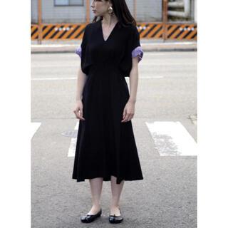 mame - mame Vネックドレス
