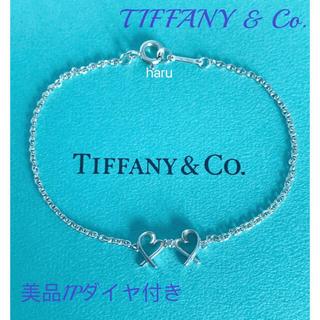 Tiffany & Co. - 美品TIFFANY&Co.ティファニーダブルラッピングハートダイヤブレスレット