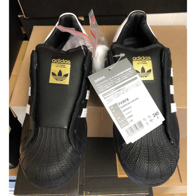 adidas(アディダス)の新品★adidas SUPERSTAR 24cm ブラック レディースの靴/シューズ(スニーカー)の商品写真