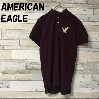 アメリカンイーグル(American Eagle)の【人気】アメリカンイーグル ポロシャツ 胸元ロゴマーク ボルドー サイズXS(ポロシャツ)