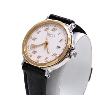 エルメス(Hermes)の【HERMES】エルメス 時計 'キャリック' ゴールドコンビモデル ☆極美品☆(腕時計)