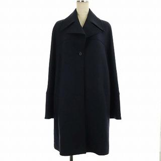 ジルサンダー(Jil Sander)のジルサンダー ネイビー チェスターコート ロング オーバーサイズ 36 紺(その他)