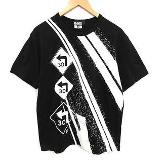 ブラックコムデギャルソン(BLACK COMME des GARCONS)のブラックコムデギャルソン AD2020 Tシャツ カットソー プリント XL 黒(Tシャツ/カットソー(半袖/袖なし))