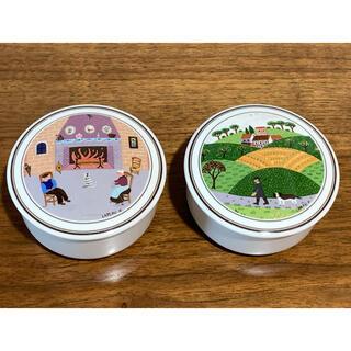ビレロイアンドボッホ(ビレロイ&ボッホ)のCREA様専用Villeroy & Bochのフタ付き陶器小物入れ3個(小物入れ)