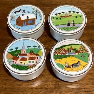 ビレロイアンドボッホ(ビレロイ&ボッホ)のVilleroy & Bochのフタ付き陶器小物入れ/キャニスター4個セット(小物入れ)