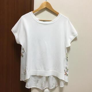 GLOBAL WORK - 美品☆グローバルワーク 切り替えニットTシャツ