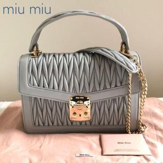 miumiu - 新品 miu miu マテラッセ 2way ショルダーバッグ コンフィデンシャル