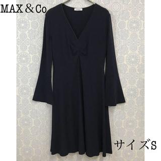 マックスアンドコー(Max & Co.)のマックスアンドコー 長袖ワンピース ネイビー MAX&Co(ひざ丈ワンピース)