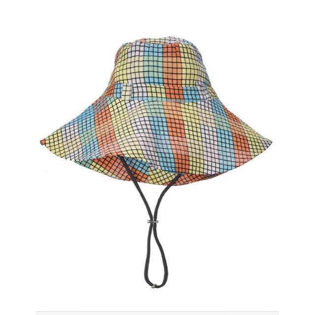 TOMORROWLAND(トゥモローランド)の☆新品・未使用☆ GANNI  バケットハット チェック マルチカラー レディースの帽子(ハット)の商品写真