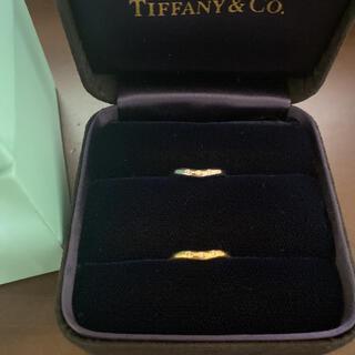 Tiffany & Co. - 美品!ティファニー エルサ ペレッティ カーブド 3P ダイヤ 指輪 2点