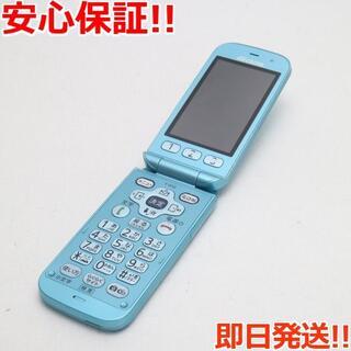 フジツウ(富士通)の良品中古 F-01G らくらくホン ベーシック4 ブルー (携帯電話本体)