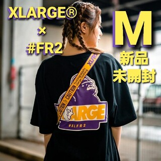 XLARGE - XLARGE #FR2 Rabbit OG Logo Tシャツ 黒 M