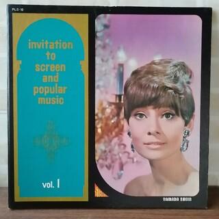 アメリカ名画曲集 vol1 名画紹介ページ付き LPレコード(その他)