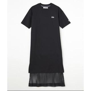 DOUBLE STANDARD CLOTHING - ダブスタ❣️希少割引❣️ESSENTIAL裾メッシュレイヤードコットンワンピース