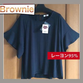 Brownie - 新品♡ Brownie ♡トップス♡Tシャツ♡半袖♡ネイビー♡タグつき