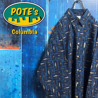 コロンビア(Columbia)の【コロンビア】フィッシュ柄ロゴタグ総柄フィッシングシャツ(シャツ)