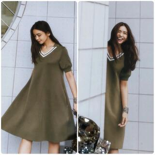 FOXEY - フォクシー《Tennis Sweater Dress》カーキ 40
