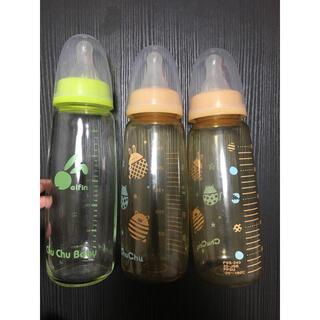 ニシマツヤ(西松屋)のチュチュベビー 哺乳瓶 プラスチック 瓶 240ml 3本セット(哺乳ビン)