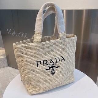 プラダPrada編むハンドバッグ