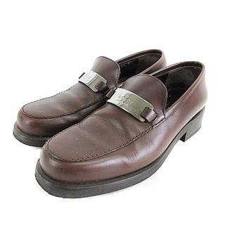 グッチ(Gucci)のグッチ GUCCI  ローファー プレート ビット レザー ブラウン 35(ローファー/革靴)