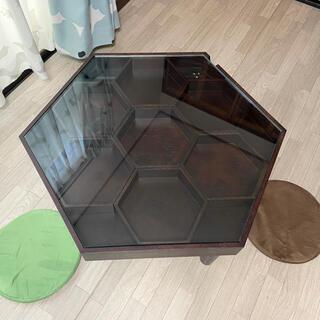 【美品】ローテーブル 6角形 北欧 ※直接引取のみ(ローテーブル)