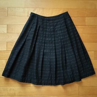 ジェーンマープル(JaneMarple)のジェーンマープル ドットボーダージャガードスカート 黒 フォーマル(ひざ丈スカート)
