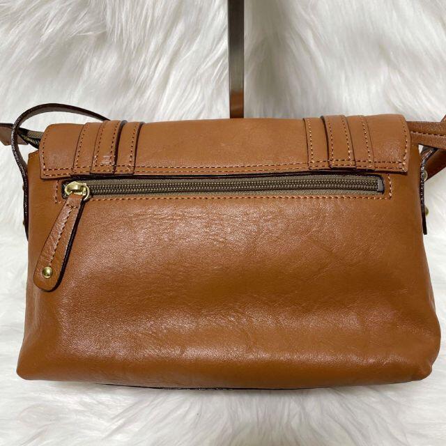 Dakota(ダコタ)のDakota ダコタ ショルダーバッグ 斜め掛け レザー 革 ブラウン 匿名配送 レディースのバッグ(ショルダーバッグ)の商品写真